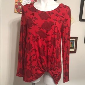 Apt 9 red blouse